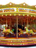 Amazing horse carousel in Athens royalty free stock photo