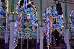 Amazing huge light-sculpture Stock Photos
