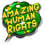 Amazing Human Rights - Comic book style words. Amazing Human Rights - Vector illustrated comic book style phrase on abstract background vector illustration