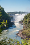 Amazing  Iguassu waterfall Royalty Free Stock Images