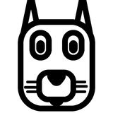 Cat logo. This is an amazing illustration or illustration of a Cat head Stock Photography