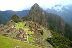 Amazing Inca Ruins of Machu Picchu Archaeological site, the New Seven Wonder of the World in Cusco Region, Peru. South America stock images