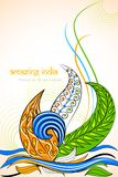 Amazing India. Vector illustration of Amazing India with tri color floral Royalty Free Stock Photography