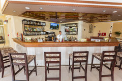 amazing inviting view of lobby bar premium service section Royalty Free Stock Photography