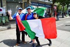 Amazing Italian Football Fans Royalty Free Stock Image