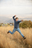Amazing Jumping Man Royalty Free Stock Photos