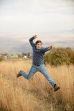 Amazing Jumping Man Royalty Free Stock Photos