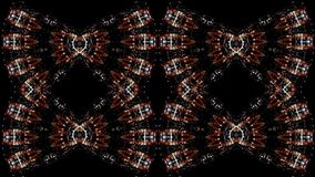 Amazing kaleidoscope with mirror effect of night city streets with bright lights vector illustration