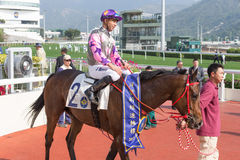 Amazing Kids wins Bauhinia Sprint Trophy in Hong Kong Stock Photos