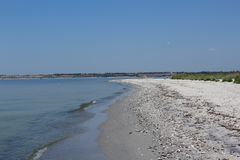 This is an amazing Kinburn spit. royalty free stock images