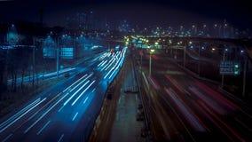 Amazing Korea Seoul Night Traffic Road. Hello, this is a night traffic road shot with G7 in Seoul. Korea. Thank you Stock Images