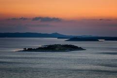 Amazing Kornati archipelago of Croatia. Northern part of Dalmati Royalty Free Stock Photos