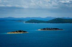 Amazing Kornati archipelago of Croatia. Northern part of Dalmati Royalty Free Stock Photo