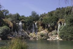 The amazing Kravice waterfalls in Bosnia Herzegovina Stock Photos