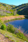 Amazing lake in Crimea mountains Royalty Free Stock Photo