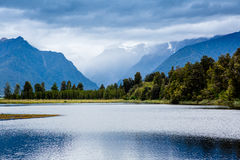 Amazing Lake Matheson. New Zealand Stock Photography
