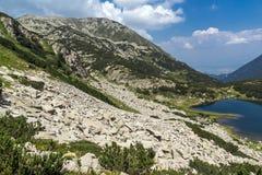Amazing Landacape of Muratovo lake, Pirin Mountain Royalty Free Stock Images