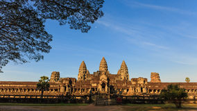 Amazing landscape of Angkor Wat Temple Royalty Free Stock Images