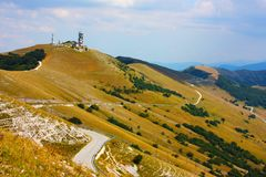 Amazing landscape of Apennines Royalty Free Stock Photos