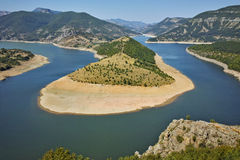 Amazing landscape of Arda River and Kardzhali Reservoir. Bulgaria Royalty Free Stock Photography