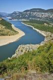 Amazing landscape of Arda River and Kardzhali Reservoir Royalty Free Stock Images