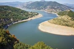 Amazing landscape of Arda River meander and Kardzhali Reservoir Royalty Free Stock Images