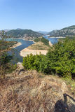 Amazing landscape of Arda River meander and Kardzhali Reservoir Royalty Free Stock Photography