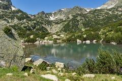 Amazing landscape of Banski lakes and Small Polezhan peak,  Pirin Mountain Stock Photography