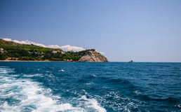 Amazing landscape of the Black Sea and mountains in Crimea Stock Photography