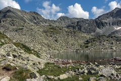 Amazing Landscape with Clear sky over Musala peak and Musalenski lakes,  Rila mountain Stock Images