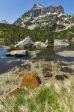 Amazing Landscape of Dzhangal peak and Banski lakes, Pirin Mountain Stock Images