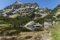 Amazing Landscape of Dzhangal peak and Banski lakes, Pirin Mountain Stock Photo
