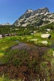 Amazing Landscape of Dzhangal peak and Banski lakes, Pirin Mountain Royalty Free Stock Photography