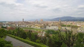 Amazing landscape of Florence city, Arno river and Apennine mountains, tourism. Stock footage stock footage