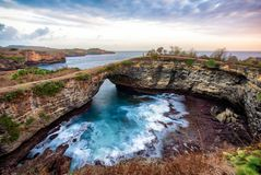 Amazing landscape of geologic formation in Bali, Indonesia stock images