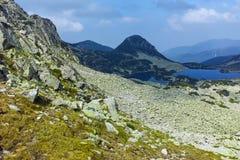 Amazing Landscape with Gergiyski lakes,  Pirin Mountain stock photography