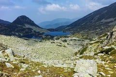 Amazing Landscape with Gergiyski lakes,  Pirin Mountain royalty free stock photo