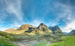 The amazing landscape of Glencoe with it`s three sisters. Scotland - United Kingdom Stock Photography