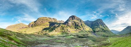 The amazing landscape of Glencoe with it`s three sisters. Scotland - United Kingdom Royalty Free Stock Photos