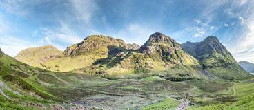The amazing landscape of Glencoe with it`s three sisters. Scotland - United Kingdom Stock Photos