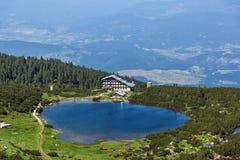 Amazing Landscape with Green hills around Bezbog lake, Pirin Mountain Royalty Free Stock Image