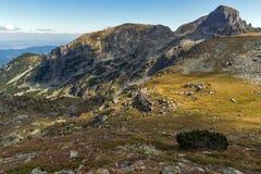 Amazing landscape of Green hills of Rila Mountain Stock Photo