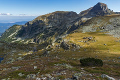 Amazing landscape of Green hills of Rila Mountain Stock Photography