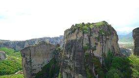 Amazing landscape of green valley Meteora stock video