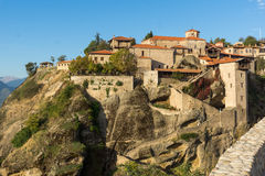 Amazing Landscape of Holy Monastery of Great Meteoron in Meteora, Greece. Amazing Landscape of Holy Monastery of Great Meteoron in Meteora, Thessaly, Greece Royalty Free Stock Image