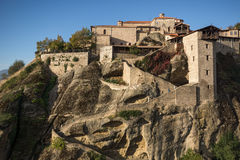 Amazing Landscape of Holy Monastery of Great Meteoron in Meteora, Greece. Amazing Landscape of Holy Monastery of Great Meteoron in Meteora, Thessaly, Greece Stock Photography