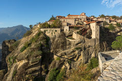 Amazing Landscape of Holy Monastery of Great Meteoron in Meteora, Greece. Amazing Landscape of Holy Monastery of Great Meteoron in Meteora, Thessaly, Greece Royalty Free Stock Photography