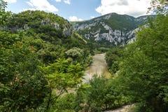 Landscape of Iskar River Gorge, Balkan Mountains, Bulgaria. Amazing Landscape of Iskar River Gorge, Balkan Mountains, Bulgaria stock image