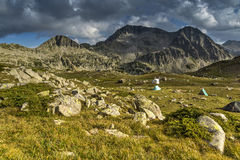 Amazing Landscape of Kamenitsa peak. Pirin Mountain, Bulgaria Royalty Free Stock Photography