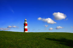 Amazing landscape with lighthouse, Plymouth, UK Royalty Free Stock Photography
